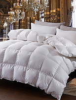 cheap -Comfortable - 1pc Bedspread Winter White Goose Down Solid Colored