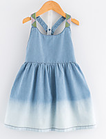 cheap -Kids / Toddler Girls' Color Block Sleeveless Dress