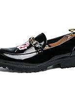Недорогие -Муж. обувь Дерматин Лето Формальная обувь Туфли на шнуровке Черный / Обувь для новинок