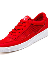 cheap -Men's Shoes Tulle / PU Summer / Fall Comfort Sneakers White / Black / Red