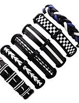 abordables -Empiler Bracelets en cuir - Mode Bracelet Noir Pour Cérémonie / Plein Air
