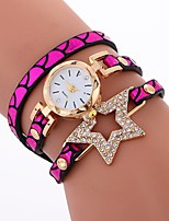 baratos -Mulheres Bracele Relógio Chinês imitação de diamante / Relógio Casual PU Banda Criativo / Fashion Preta / Azul / Prata