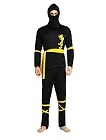 cheap -Ninja Outfits Unisex Halloween / Day of the Dead / Masquerade Festival / Holiday Halloween Costumes Black Solid Colored / Halloween