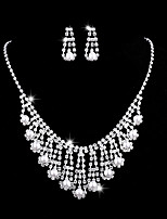cheap -Women's Cubic Zirconia Jewelry Set - Pearl Classic, Vintage, Elegant Include Drop Earrings / Choker Necklace / Bridal Jewelry Sets Silver For Wedding / Party / Engagement