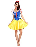 cheap -Princess / Movie / TV Theme Costumes Outfits Women's Halloween / Carnival / Children's Day Festival / Holiday Halloween Costumes Yellow