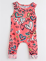 cheap -Toddler Girls' Solid Colored Print Sleeveless Clothing Set
