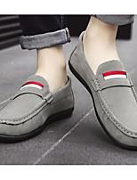 Недорогие -Муж. обувь Ткань Весна Удобная обувь Мокасины и Свитер Черный / Серый / Синий