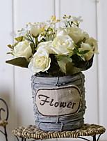 abordables -Fleurs artificielles 1 Une succursale Rétro Roses Fleur de Table