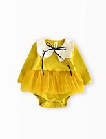 cheap -Baby Girls' Color Block Long Sleeve Bodysuit