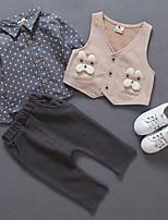 cheap -Kids Boys' Polka Dot Long Sleeve Clothing Set