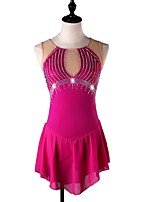 cheap -Figure Skating Dress Women's / Girls' Ice Skating Dress Fuchsia strenchy Performance / Practise Skating Wear Quick Dry, Anatomic Design