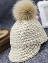 Недорогие -Жен. Для офиса Активный Широкополая шляпа Бейсболка Хлопок, Однотонный Жаккард