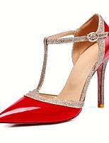 economico -Per donna Scarpe PU (Poliuretano) Primavera estate Decolleté Tacchi A stiletto Appuntite Fibbia Argento / Rosso / Carne