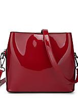 abordables -Femme Sacs faux cuir Sac à bandoulière Fermeture Bleu / Noir / Rouge
