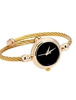 abordables -Femme Quartz Bracelet de Montre Chinois Chronographe Alliage Bande Minimaliste / Rigide Argent / Doré