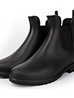 cheap -Women's Shoes PVC Leather Fall Rain Boots Boots Low Heel for Black / Brown