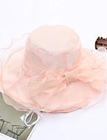 Недорогие -Жен. Очаровательный Шляпа от солнца - Сетка Однотонный