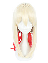 cheap -Synthetic Wig Straight Layered Haircut Synthetic Hair Cosplay Blonde Wig Women's Mid Length Cosplay Wig Capless Christmas / Yes