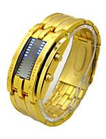 baratos -Homens Relógio Esportivo Chinês Cronógrafo / Impermeável / Criativo Aço Inoxidável Banda Luxo / Vintage Preta / Prata / Dourada