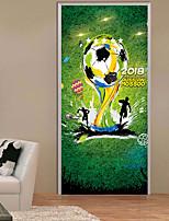 baratos -Autocolantes de Parede Decorativos Porta Adesivos - Autocolantes 3D para Parede Futebol Americano 3D Sala de Estar Quarto Banheiro