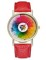 abordables -Mujer Reloj de Vestir Chino Cronógrafo PU Banda Creativo / Moda Negro / Rojo