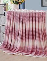 cheap -Coral fleece, Reactive Print Striped / Geometric Cotton / Polyester Blankets