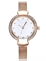 cheap -Women's Bracelet Watch Chinese Chronograph / Imitation Diamond Alloy Band Fashion / Bangle Black / Silver / Rose Gold