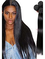 cheap -Mongolian Hair Straight Natural Color Hair Weaves / Bundle Hair / Human Hair Extensions 4 Bundles Human Hair Weaves Soft / Classic / Hot Sale Natural Black Human Hair Extensions Women's