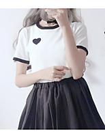 abordables -Tee-shirt Femme, Couleur Pleine Glands Rétro Ananas