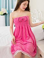 abordables -Qualité supérieure Serviette de bain / Peignoir, Couleur Pleine Polyester / Coton 1 pcs