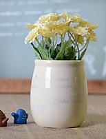 abordables -Fleurs artificielles 1 Une succursale Rustique Chrysanthème Fleur de Table