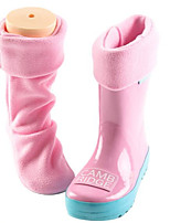 cheap -Girls' Shoes Silicone Spring & Fall Rain Boots Boots for Green / Blue / Pink