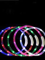 abordables -Chiens Cravate / Noeud Papillon Lampe LED / Ajustable / Réglable / Rechargeable TPU Rouge / Vert / Bleu