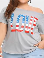 economico -T-shirt Per donna Tinta unita Monospalla / Monospalla