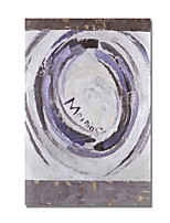cheap -Oil Painting Hand Painted - Abstract Comtemporary / Modern Canvas