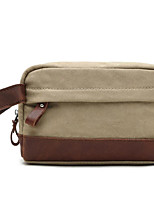 cheap -Men's Bags Canvas Clutch Zipper Coffee / Light Gray / Khaki
