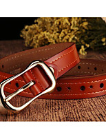cheap -Women's Work Active Leather Waist Belt - Solid Colored