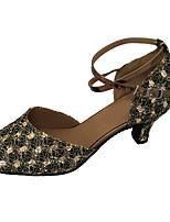 cheap -Women's Modern Shoes Sparkling Glitter Heel Indoor Cuban Heel Dance Shoes Silver / Bronze