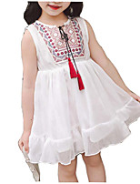 cheap -Kids Girls' Print Sleeveless Dress