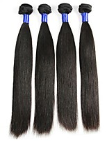 cheap -Mongolian Hair Straight Natural Color Hair Weaves / Extension / Human Hair Extensions 4 Bundles Human Hair Weaves Life / Sexy Lady / Hot Sale Natural Black Human Hair Extensions Women's