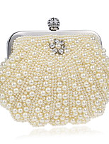 cheap -Women's Bags Pearl Evening Bag Beading / Pearls for Wedding / Event / Party White / Milky White / Beige