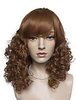 cheap -Wig Accessories Curly Layered Haircut Synthetic Hair Cute / Heat Resistant / New Brown Wig Women's Mid Length Cosplay Wig / Natural Wigs