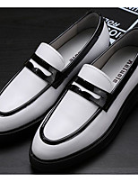 cheap -Men's Shoes Nappa Leather / Cowhide Fall Comfort Loafers & Slip-Ons White