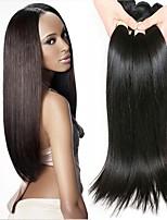 billiga -4 paket Peruanskt hår Rak Äkta hår / Obehandlat Mänsligt hår Human Hår vävar / bunt hår / Hårförlängningar av äkta hår 8-28 tum Naturlig Naurlig färg Hårförlängning av äkta hår Maskingjord Silkig