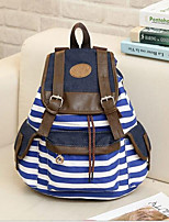 cheap -Women's Bags Canvas Backpack Zipper for School / Outdoor Blue / Black