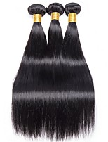 cheap -Brazilian Hair Straight Unprocessed Human Hair Natural Color Hair Weaves / Human Hair Extensions 3 Bundles Human Hair Weaves Best Quality / New Arrival / For Black Women Natural Black Human Hair