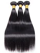 cheap -Peruvian Hair Straight Natural Color Hair Weaves / Human Hair Extensions Gift Bag 8-28inch Human Hair Weaves Capless Hot Sale / For Black