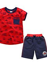 cheap -Kids Boys' Print Short Sleeve Clothing Set