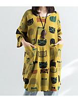 economico -T-shirt Per donna Essenziale / Moda città Con stampe, Animali