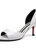 cheap -Women's Shoes Cowhide Spring Comfort / Basic Pump Heels Stiletto Heel White / Black / Red